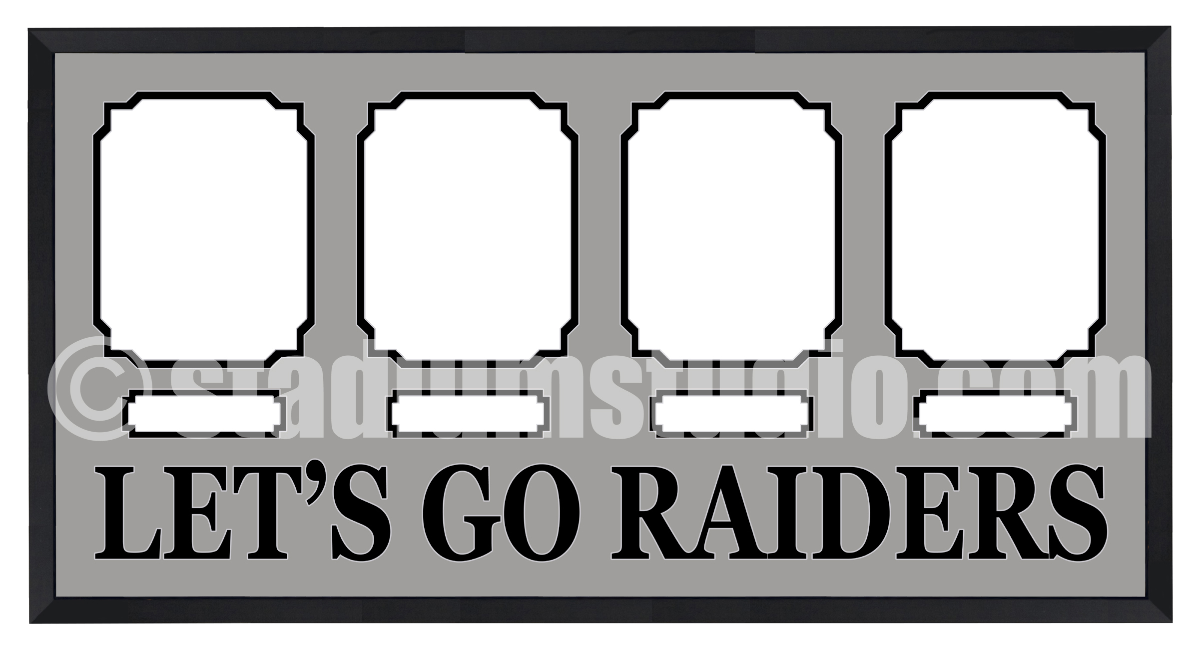Oakland Raiders Customized Four Photo Team Frame - The Stadium Studio