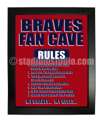 Atlanta Braves Fan Cave_Framed