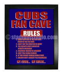 Chicago Cubs Fan Cave_Framed