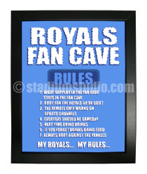 Kansas City Royals Fan Cave_Framed