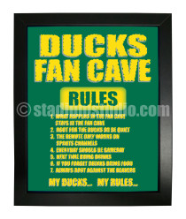 Oregon Ducks Fan Cave_Framed