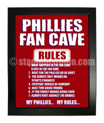 Philadelphia Phillies Fan Cave_Framed