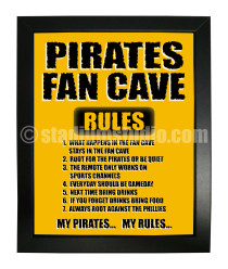 Pittsburgh Pirates Fan Cave_Framed