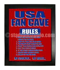 United States Fan Cave_Framed