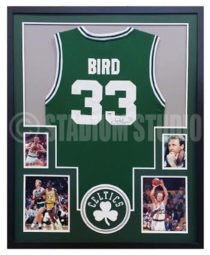 Bird, Larry Framed Jersey