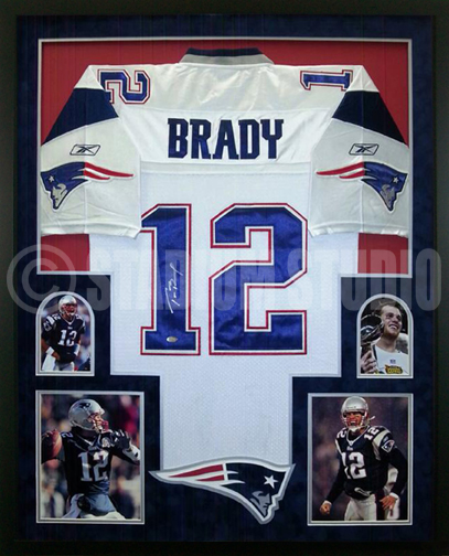 Tom Brady Autographed Framed Patriots Jersey