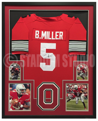 Braxton Miller Autographed Framed Ohio State Jersey