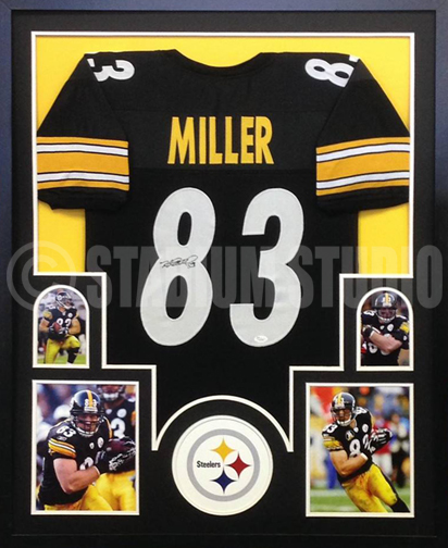 Heath Miller Autographed Framed Steelers Jersey