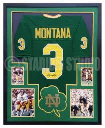 Montana, Joe Framed Notre Dame Jersey