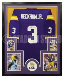 Beckham Jr., Odell Framed Jersey_LSU