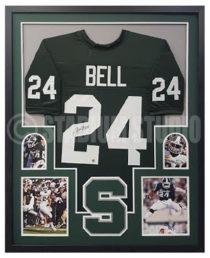 Bell, Le'Veon Framed Jersey_MSU