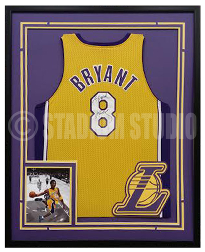 Kobe Bryant Autographed Framed Lakers Jersey
