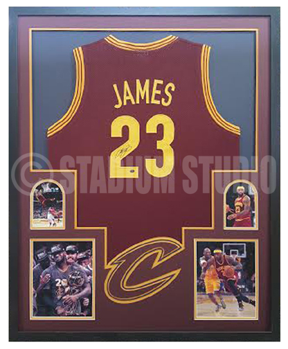 Lebron James Autographed Framed Cavaliers Jersey