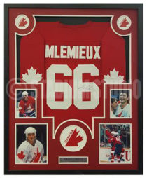 Lemieux, Mario Framed Jersey_Canada Cup