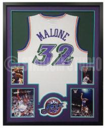 Malone, Karl Framed Jersey