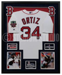 Ortiz, David Framed Jersey