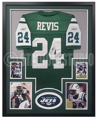 Darrelle Revis Autographed Framed Jets Jersey