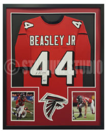 Beasley, Vic Framed Falcons Jersey