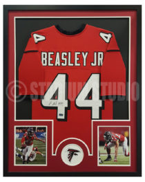 Beasley, Vic Framed Falcons Jersey2