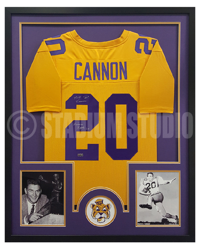 Billy Cannon Autographed Framed LSU Tigers Jersey
