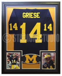 Griese, Brian Framed Michigan Jersey
