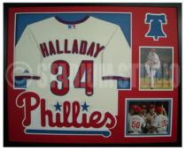 Halladay, Roy Framed Phillies Jersey