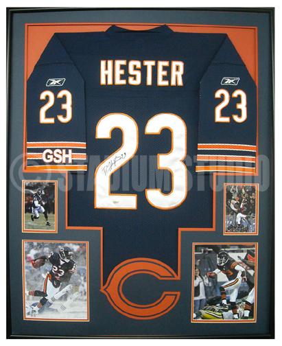 Devin Hester Autographed Framed Bears Jersey