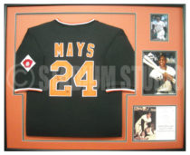 Mays, Willie Framed Giants Jersey