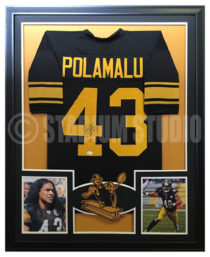 Polamalu, Troy Framed Steelers Jersey