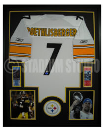 Roethlisberger, Ben Framed Steelers Jersey_White