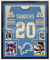 Sanders, Barry Framed Jersey
