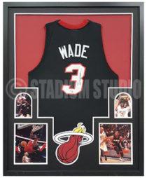 Wade, Dwayne Framed Jersey_Heat