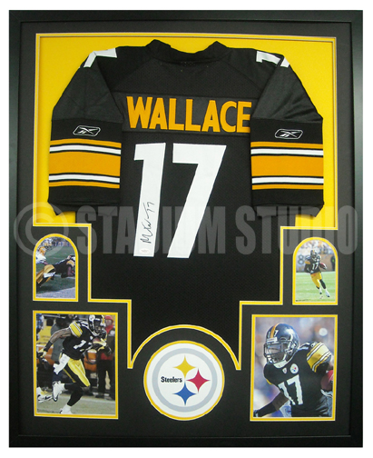 Mike Wallace Autographed Framed Steelers Jersey