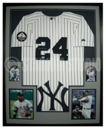 Cano, Robinson Framed Yankees Jersey