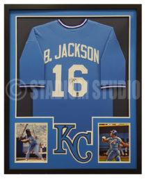 Jackson, Bo Framed Royals Jersey2