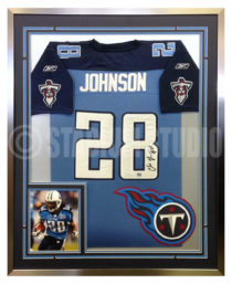 Johnson, Chris Framed Titans Jersey
