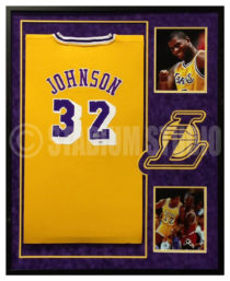 Johnson, Magic Framed Lakers Jersey