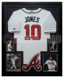 Jones, Chipper Framed Braves Jersey