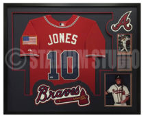 Jones, Chipper Framed Braves Jersey2