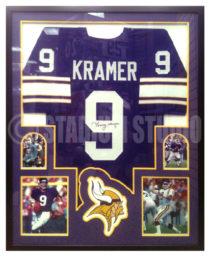 Kramer, Sonny Framed Vikings Jersey