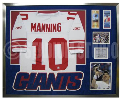 Eli Manning Autographed Framed Giants Jersey