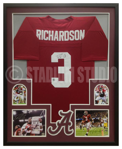 Trent Richardson Autographed Framed Alabama Crimson Tide Jersey