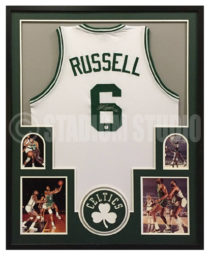 Russell, Bill Framed Celtics Jersey