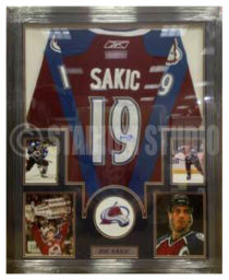 Sakic, Joe Framed Avalanche Jersey
