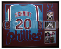 Schmidt, Mike Framed Phillies Jersey