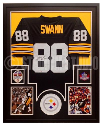 Lynn Swann Autographed Framed Steelers Jersey